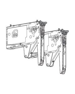 Compás abatible AVENTOS HK top, Mecanismo de elevación, FR=1730-5200 (por 2 unidades), para TIP-ON